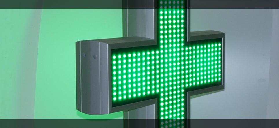 Apotekarski LED Krst