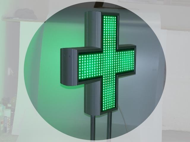 Apotekarski LED Krst Full